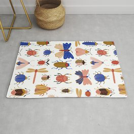 Funny insects Rug