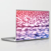 glitter Laptop & iPad Skins featuring Pink Purple Blue Glitter by Whimsy Romance & Fun