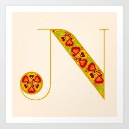 N - Amarilis Art Print
