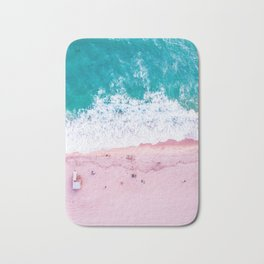 California coastline sand and surf Bath Mat