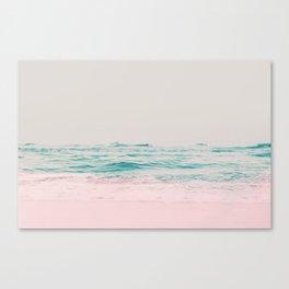 Vintage Pastel Ocean Waves Canvas Print