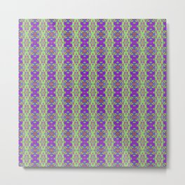 Quilted Designer Stripes - Hexagonal blend Metal Print
