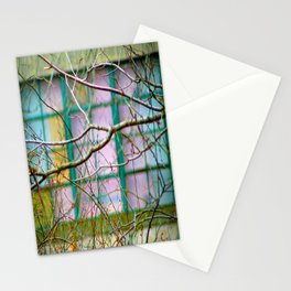 Backyard Abstract Stationery Cards