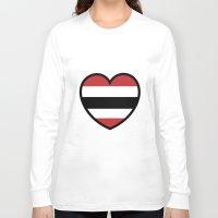 blackhawks Long Sleeve T-shirts featuring Hawk Heart by Hawk Tawk TV