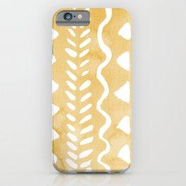 Loose bohemian pattern - yellow iPhone Case