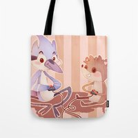 regular show Tote Bags featuring Regular Show by SweetOwls