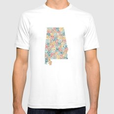 Alabama by County SMALL White Mens Fitted Tee