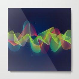 Equalizer Sound Waves Metal Print
