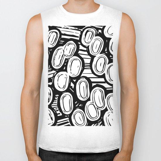 Let's go black&white Biker Tank