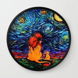 lion king and jr Wall Clock