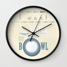 A little sugar Wall Clock