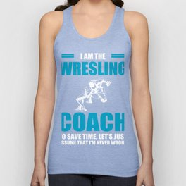 Cool Shirt For Wrestling Coach. Unisex Tank Top