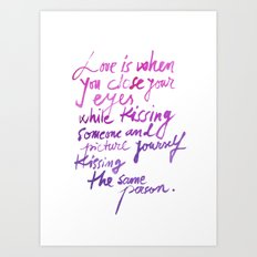 Love quotes Art Print