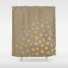FANCY GOLDEN DOTS Shower Curtain