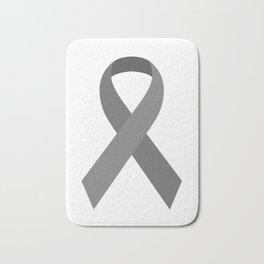 Gray Awareness Support Ribbon Bath Mat