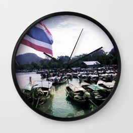 Long-Tail Harbor Wall Clock