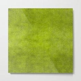 """Summer Fresh Green Garden Burlap Texture"" Metal Print"