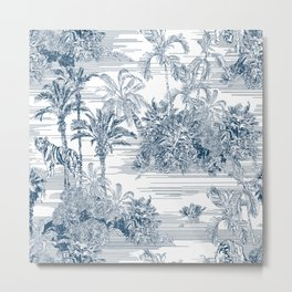 Toile Tropical Islands Metal Print