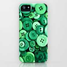 Button Green Slim Case iPhone (5, 5s)