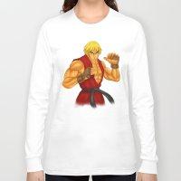street fighter Long Sleeve T-shirts featuring Ken Street Fighter by jasonarts