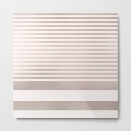 Rose Gold and Pink Stripes Mix Pattern Metal Print