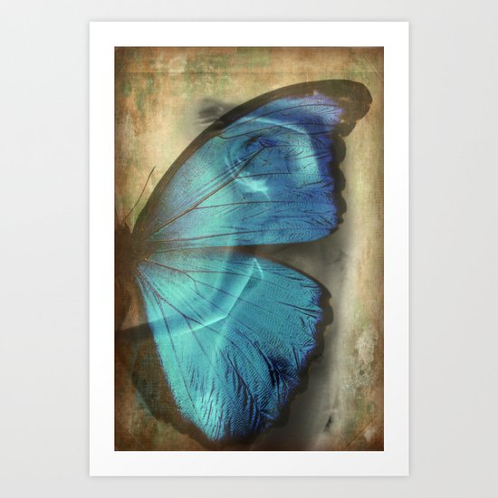 Lady Butterfly  Art Print