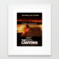 "lindsay lohan Framed Art Prints featuring Lindsay Lohan ""The Canyons"" French Film Poster by Eric Terino"