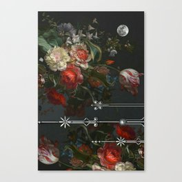 Scarlet Victorian Moon Canvas Print