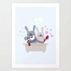 Conejitos / Bunnies Art Print