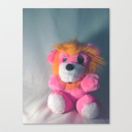 Wee Neon Carnival Prize Lion Cub Canvas Print