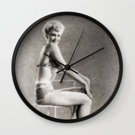 Vintage Pinup by Frank Falcon Wall Clock