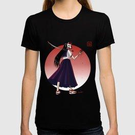 Japanese Demon Masked School Girl T-shirt