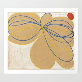 The Seven Pointed Star by Hilma af Klint Art Print