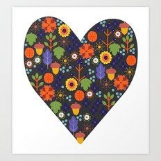 Woodland Heart Art Print