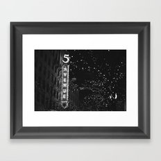 holiday in the city Framed Art Print