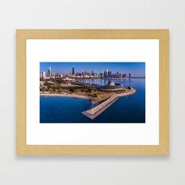 City by the Lake Framed Art Print
