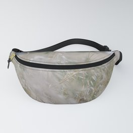 Tall wild grass growing in a meadow Fanny Pack