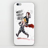 peggy carter iPhone & iPod Skins featuring PEGGY CARTER IS WORTHY. by Maryne.