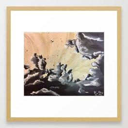 Unfurling Smoke Framed Art Print
