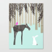 moose Canvas Prints featuring Moose by Dream Of Forest