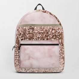 Warm chromatic - pink marble Backpack
