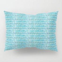 Light Blue Aztec Chevrons.  Pillow Sham