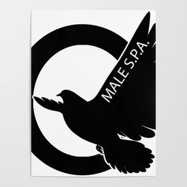 MALE SPA - BLACK DOVE LOGO Poster