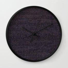 Grey Flat Weave Rug Texture Pattern Wall Clock