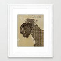 schnauzer Framed Art Prints featuring Schnauzer  by bri.b