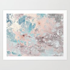 Pastel marble texture Art Print
