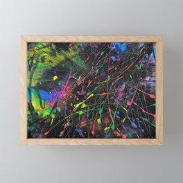 Neon Fireworks Framed Mini Art Print