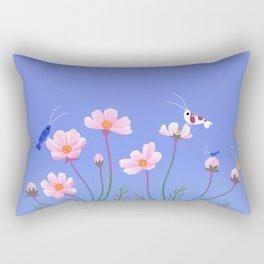 Cosmos and shrimp Rectangular Pillow