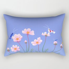 Cosmos and shrimp Rectangular Pillow
