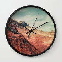 Aliens on Skye Wall Clock